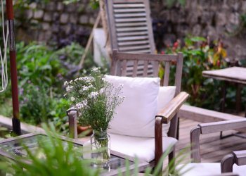 Winterse tuin